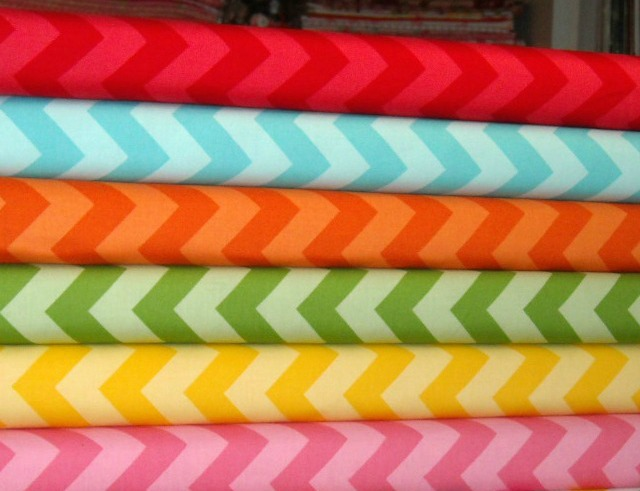 Chevron Fabric Combo 6 Yards Multi And Tone On Tone Chevrons Riley ...